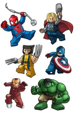 free kid superhero clipart lego.