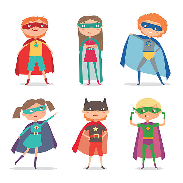 Best Superhero Kid Illustrations, Royalty.