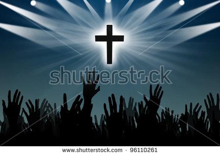 Praising God Stock Images, Royalty.