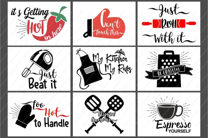 Free kitchen svg, kitchen bundle, kitchen clipart Crafter.