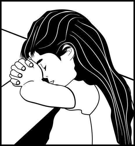 Family Prayer Clipart.