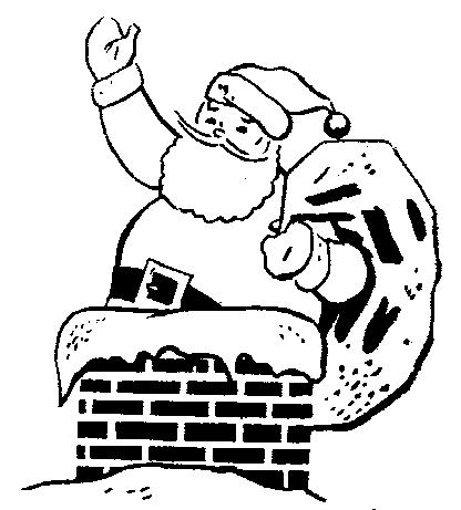 Free kneeling santa clipart black and white.