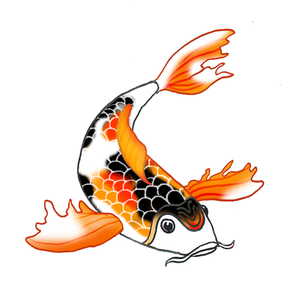 Collection of Koi fish clipart.