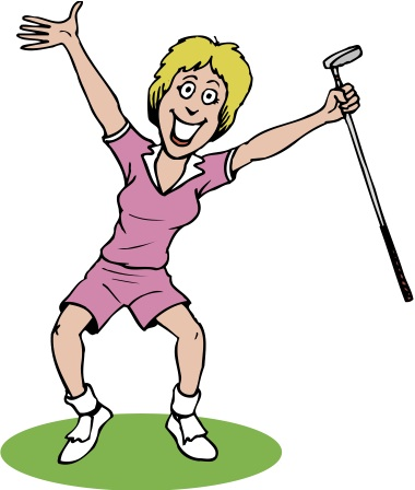 Golfing clipart lady, Golfing lady Transparent FREE for.