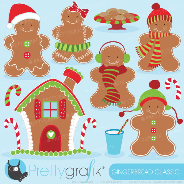 Gingerbread man clipart.