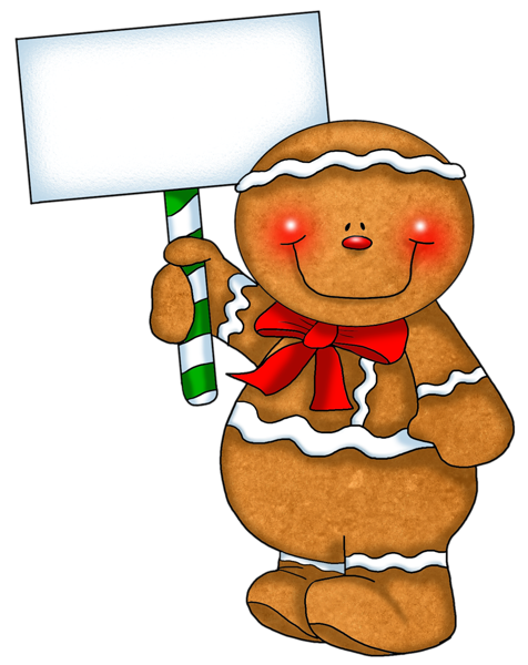Free Lang Santa And Gingerbread Man Clipart.