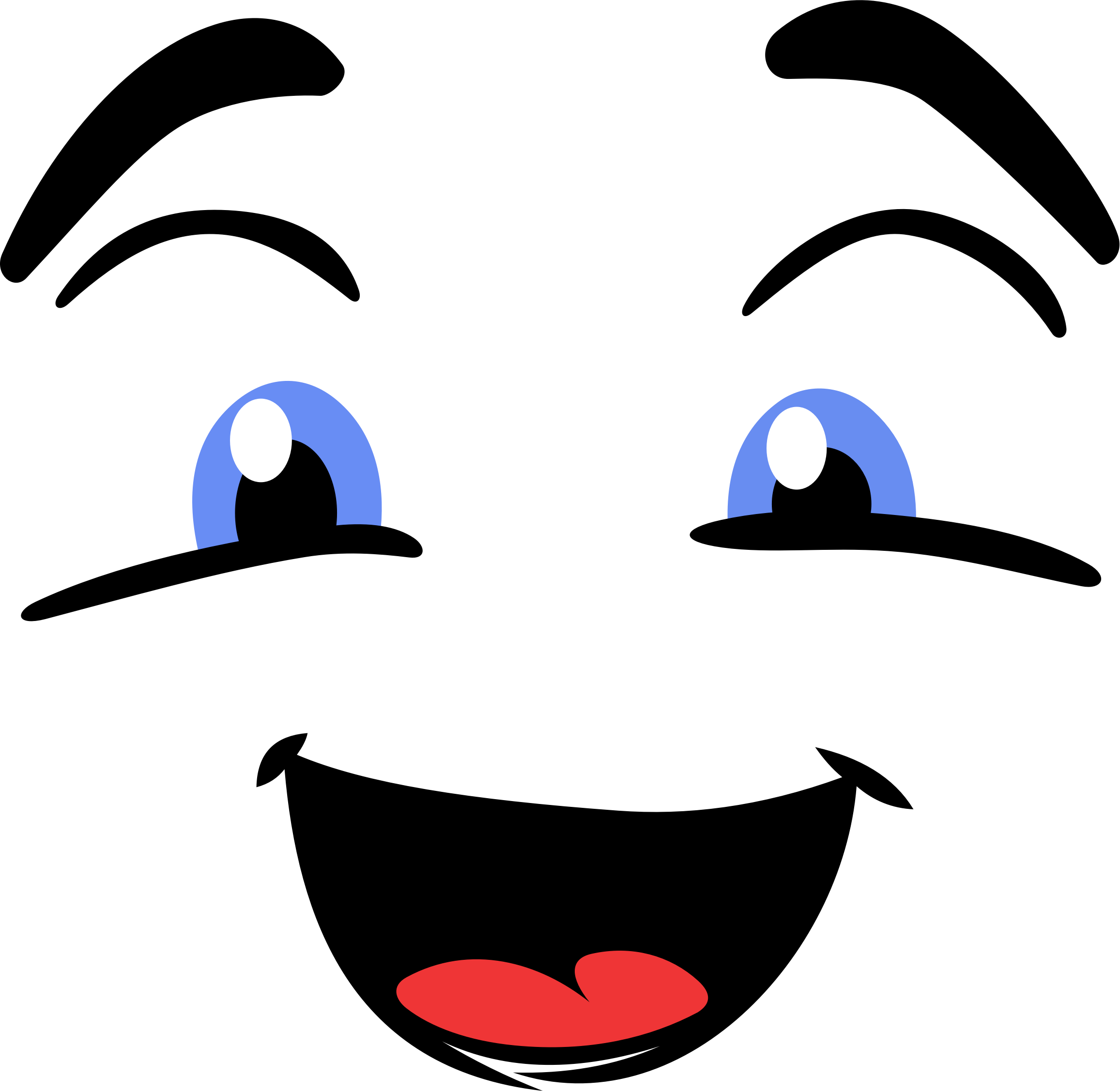 Large Happy Face Vector Clipart image.