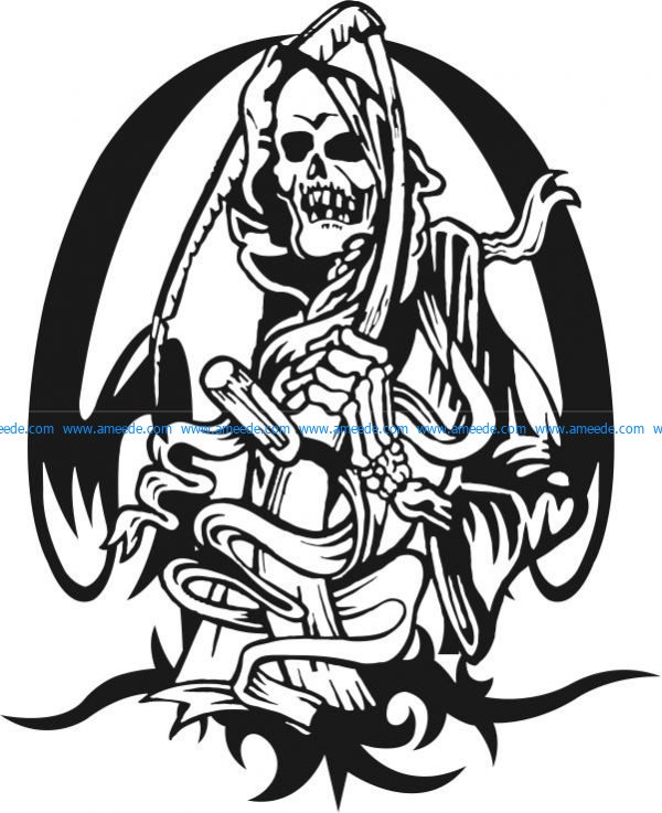 Death file cdr and dxf free vector download for print or.