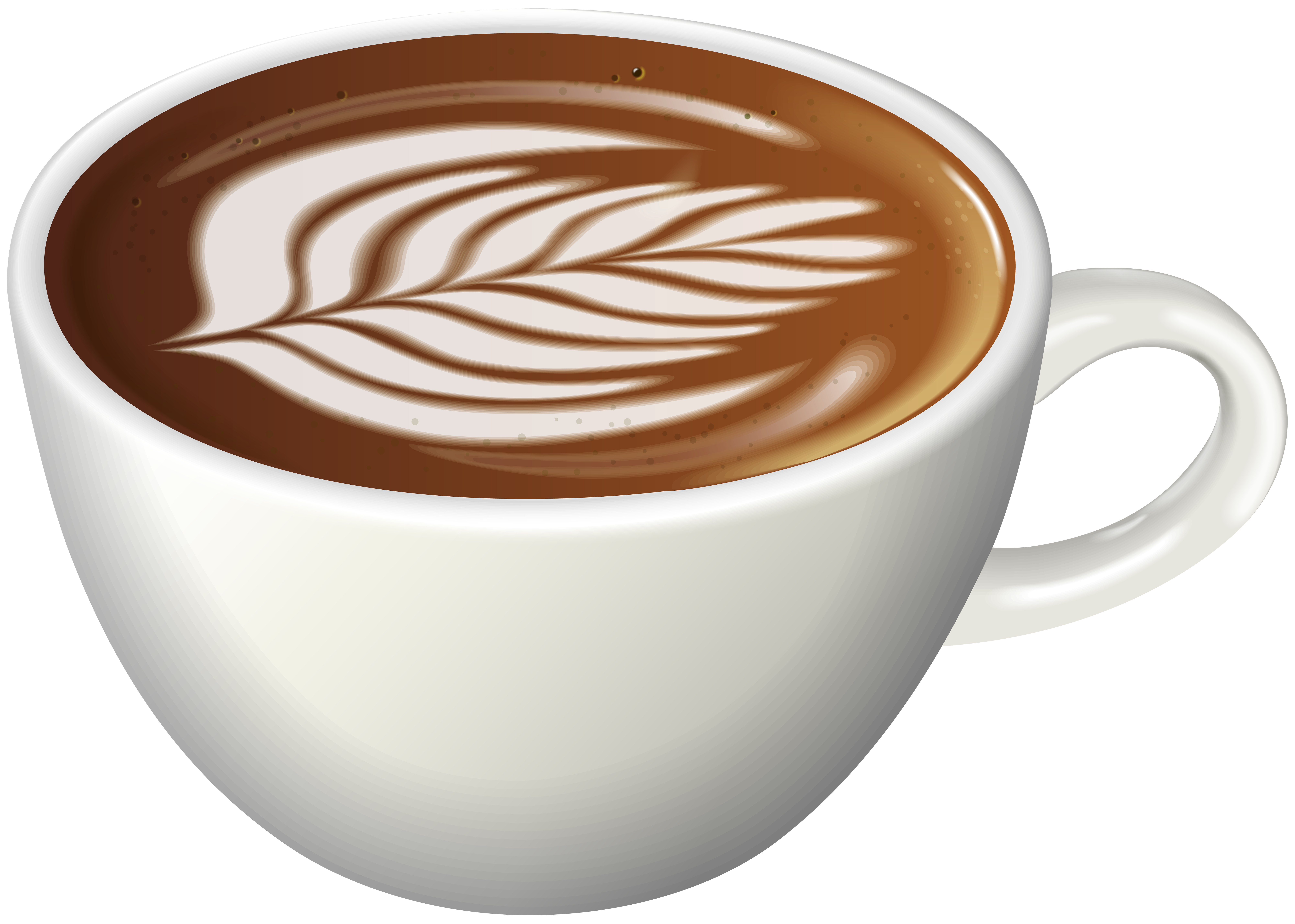 Coffee Latte Art PNG Clip Art Image.