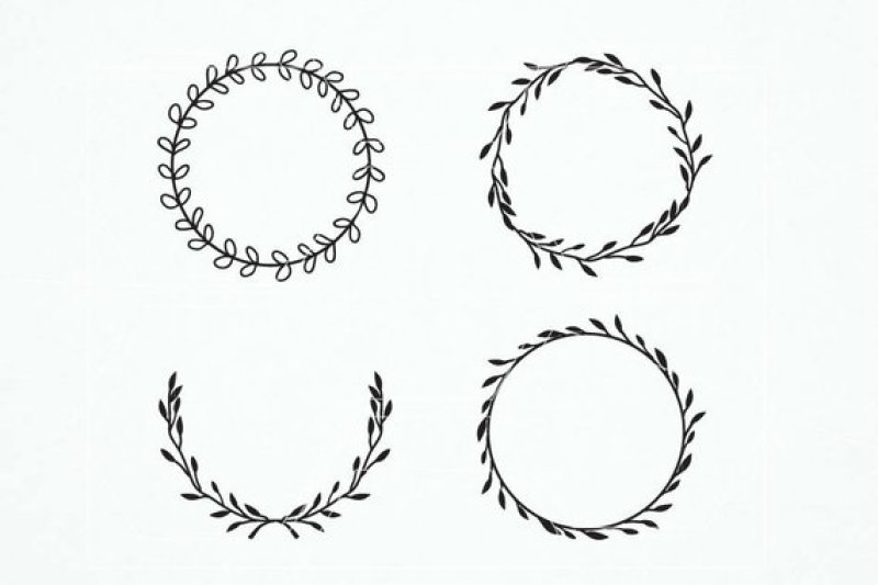 Free Vintage laurel wreath clipart. Laurel Wreaths Svg.