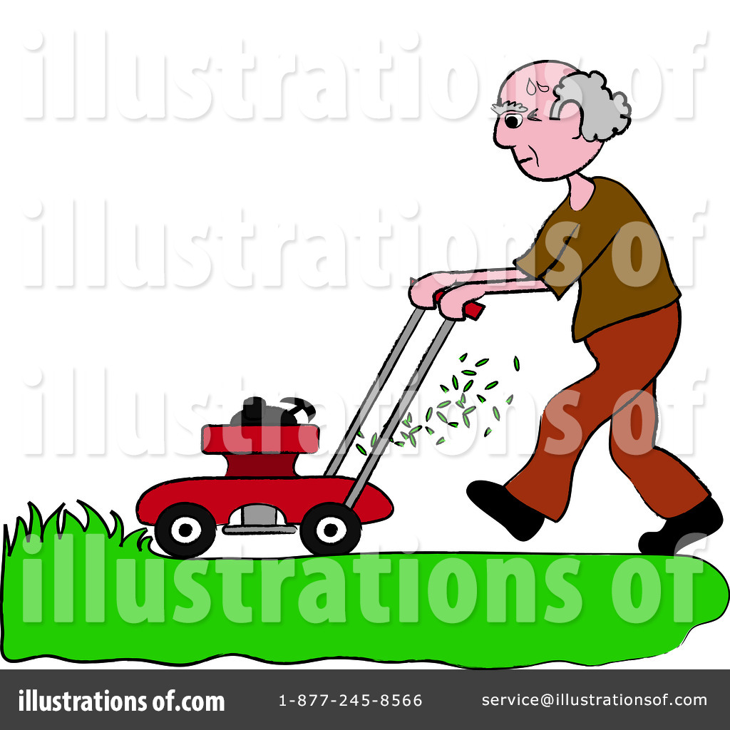 Lawn Mowing Clipart #94200.
