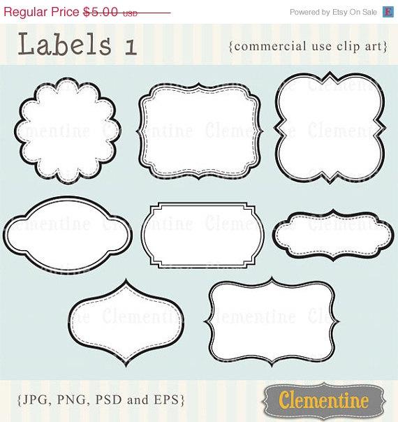 Printable labels clip art images, scrapbook clip art, royalty.