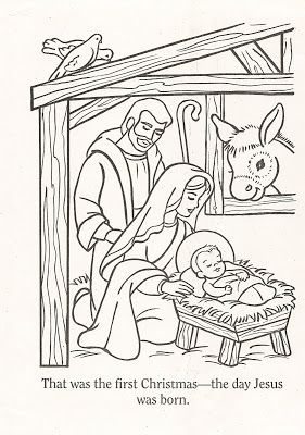 LDS Nursery Color Pages: Christmas Lesson.