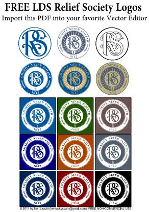 Free Relief Society Logos/Clipart.