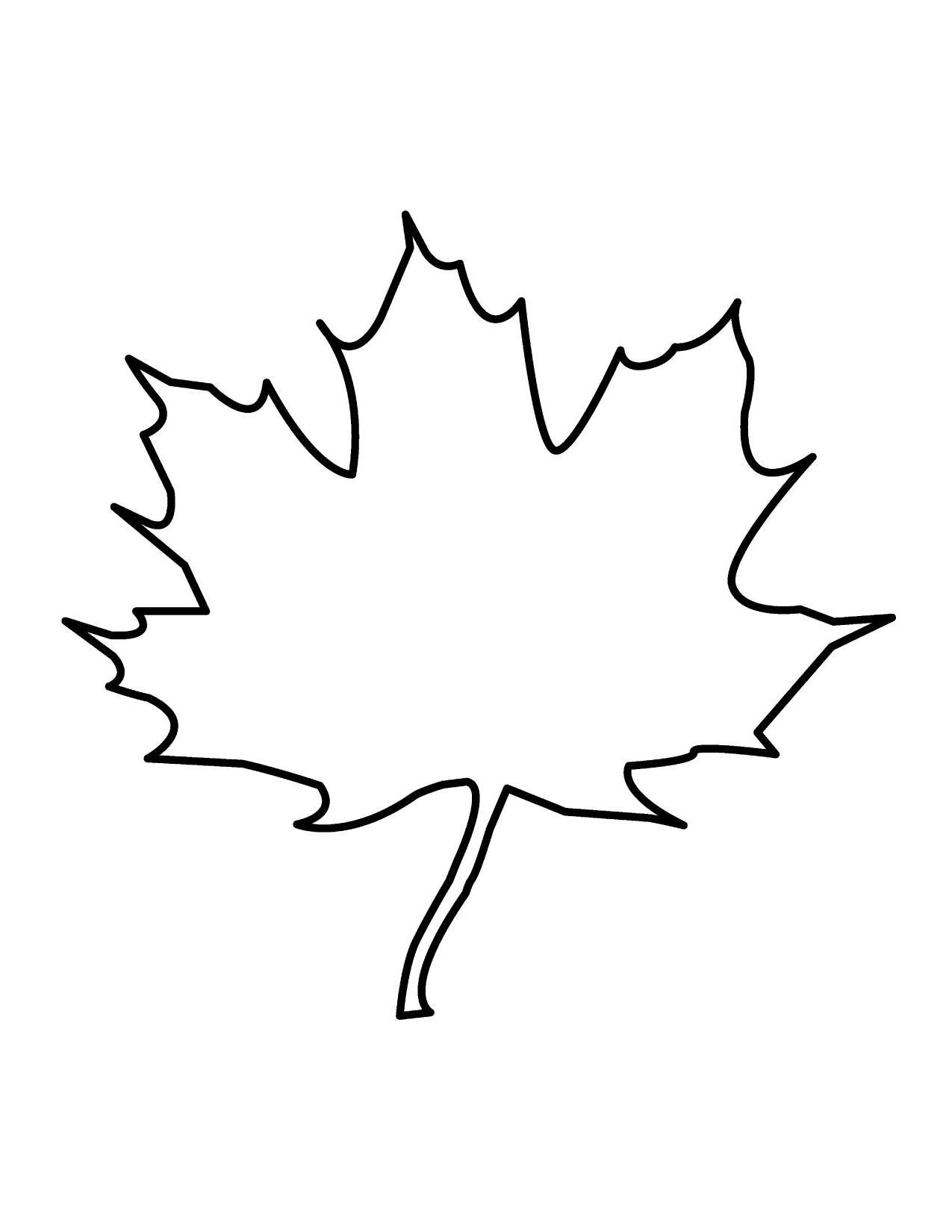 Best Free Leaf Outline Clip Art Image » Free Vector Art.