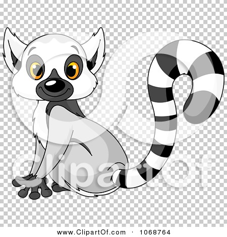 Clipart Cute Lemur Sitting.