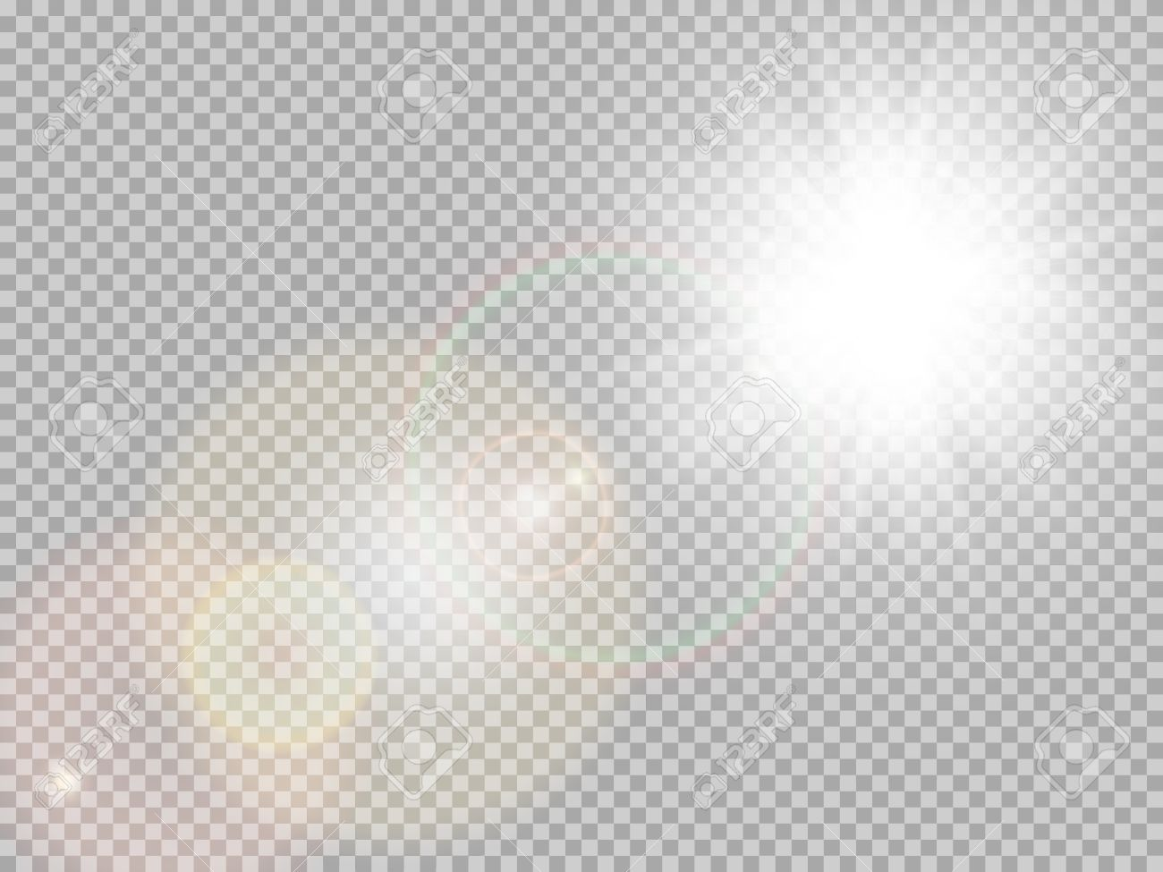 Transparent sunlight special lens flare light effect. Sun flash...