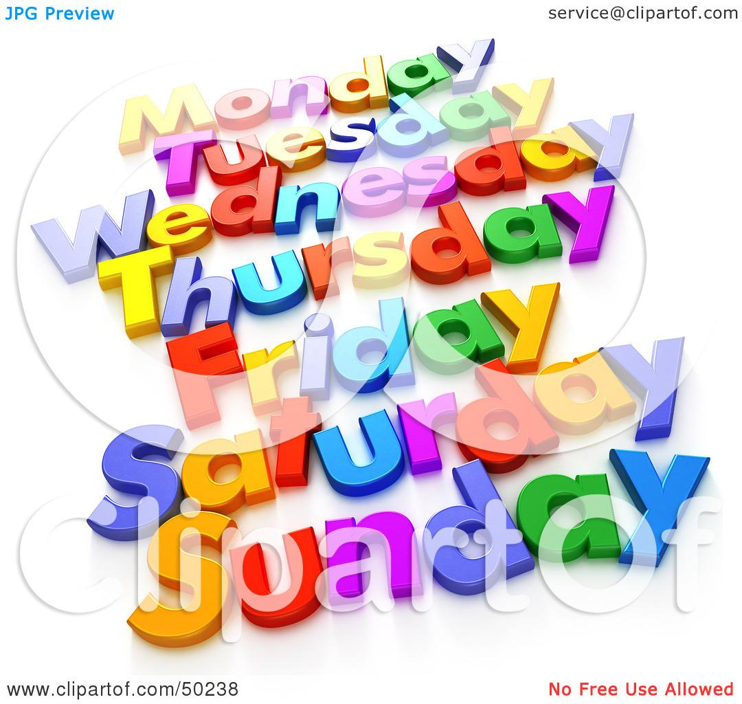 Days of Week Clipart (67+).