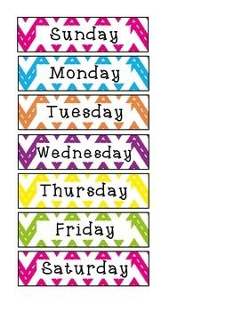Free Letter Clipart Week Days Calendare.