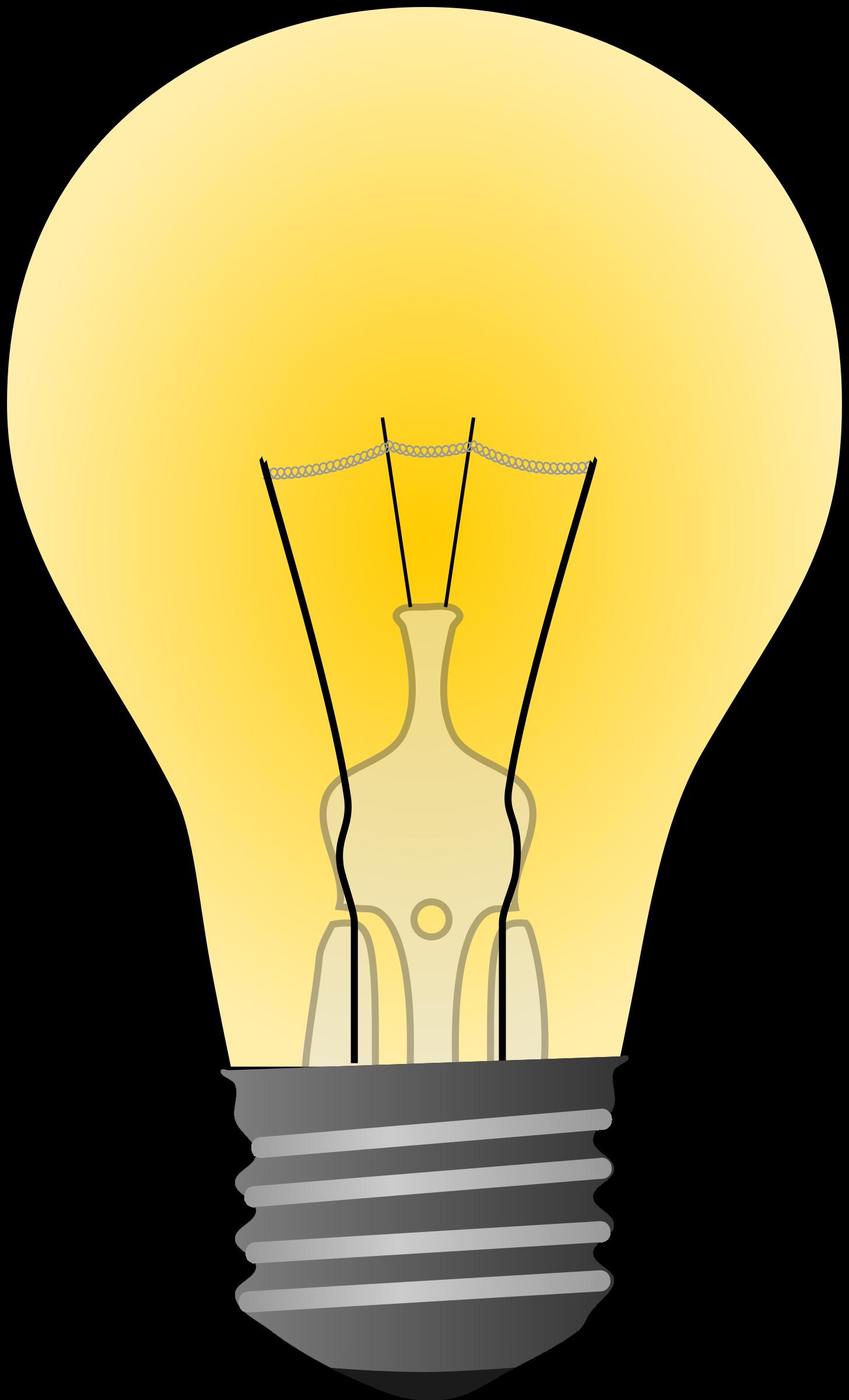 Light clipart bolb, Light bolb Transparent FREE for download.