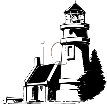 Lighthouse Black And White Clipart Of Imge.