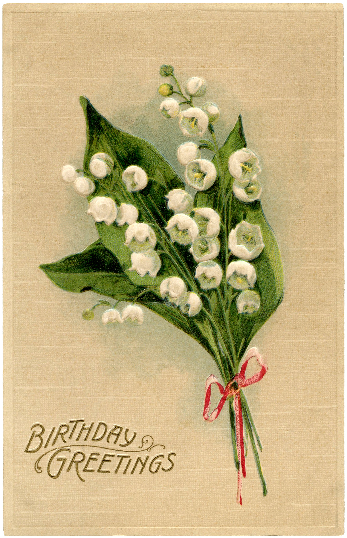 Lily of the Valley Birthday Card!.