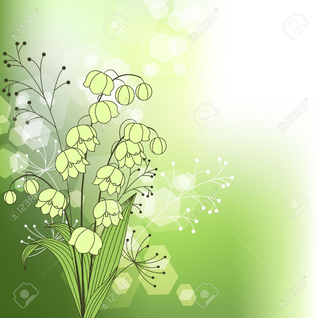 Gallery For > Simple Lily Of The Valley Drawing.