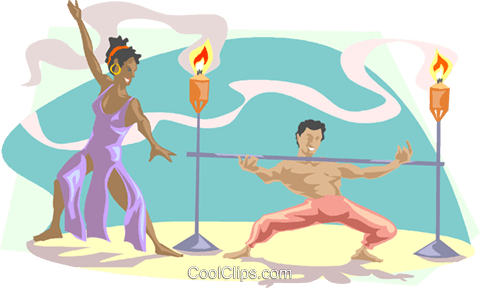 limbo dancers Royalty Free Vector Clip Art illustration.