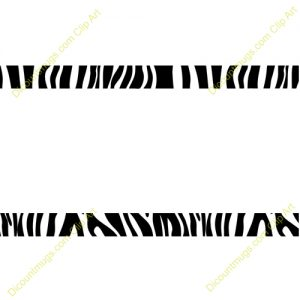Zebra Print Border Clip Art Free.