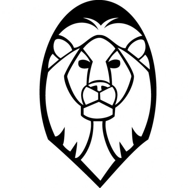 Lion head vector clip art Vector.