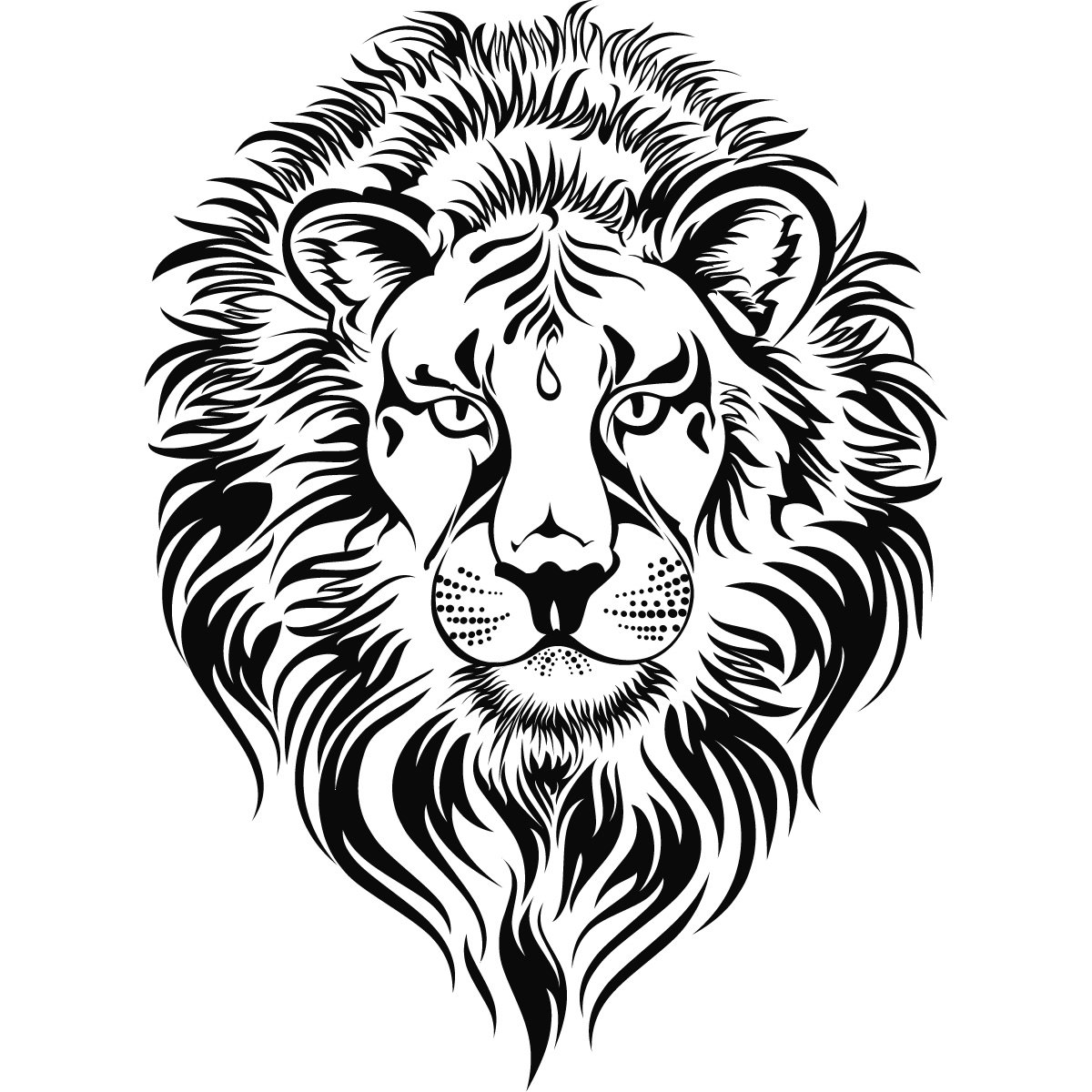 Details about Lions Head Animal Big Cats Wall Art Sticker Wall.