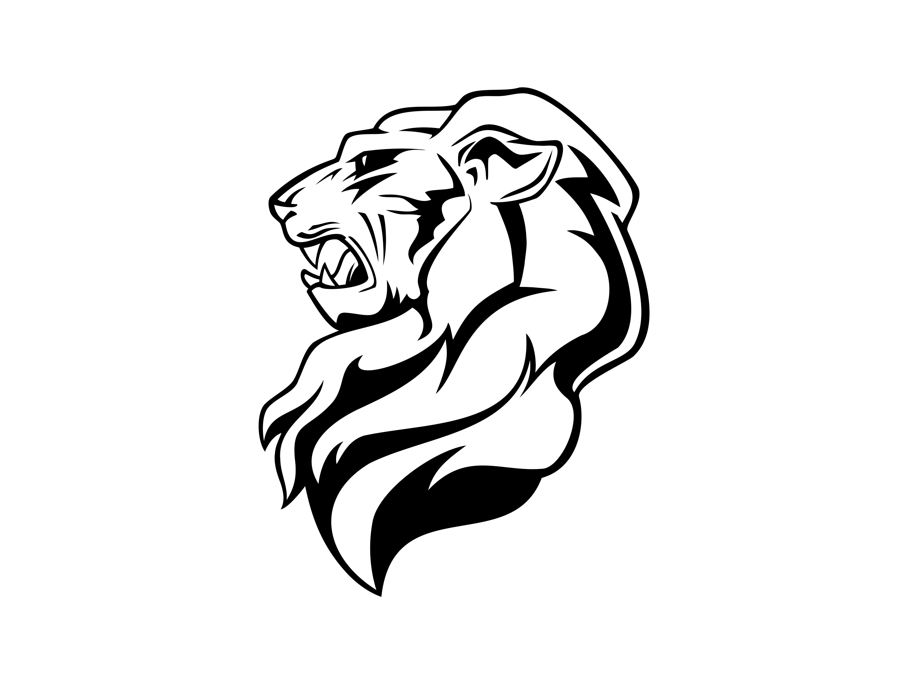 Lion Head Vector.
