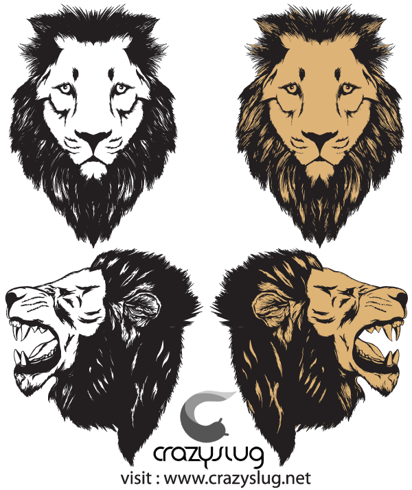 Roaring Lion Head Vector Free.