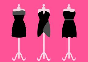 Off The Shoulder Little Black Dress Clipart.