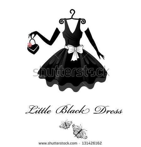 Little Black Dress Stock Images, Royalty.