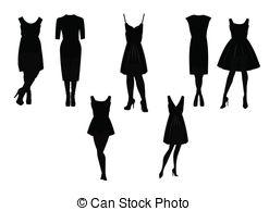 Little black dress Vector Clip Art Royalty Free. 919 Little black.