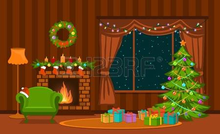 998 Christmas Living Room Stock Illustrations, Cliparts And.