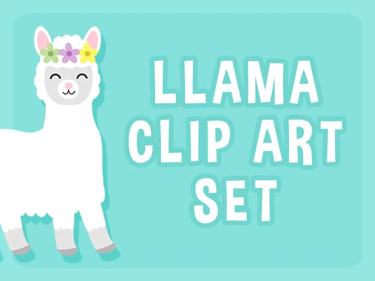 Llama Clip Art Set.