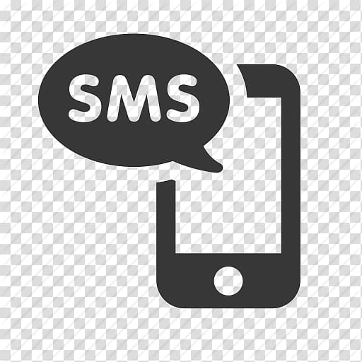 Black SMS logo, SMS gateway Text messaging Computer Icons.