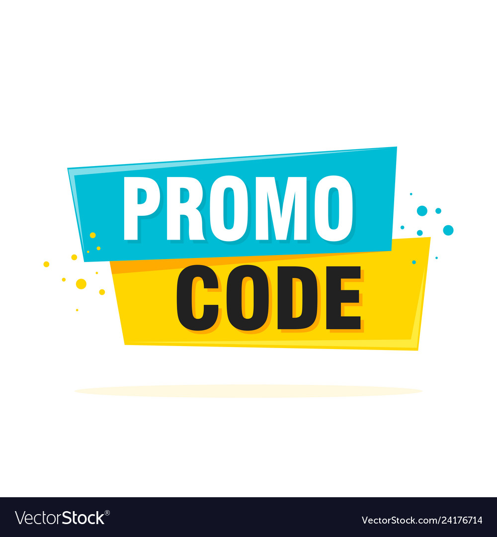 Promo code coupon code flat set design on white.