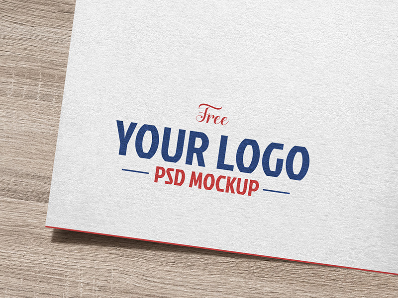 Free Natural White Paper Logo / Logotype Mockup PSD by Good.