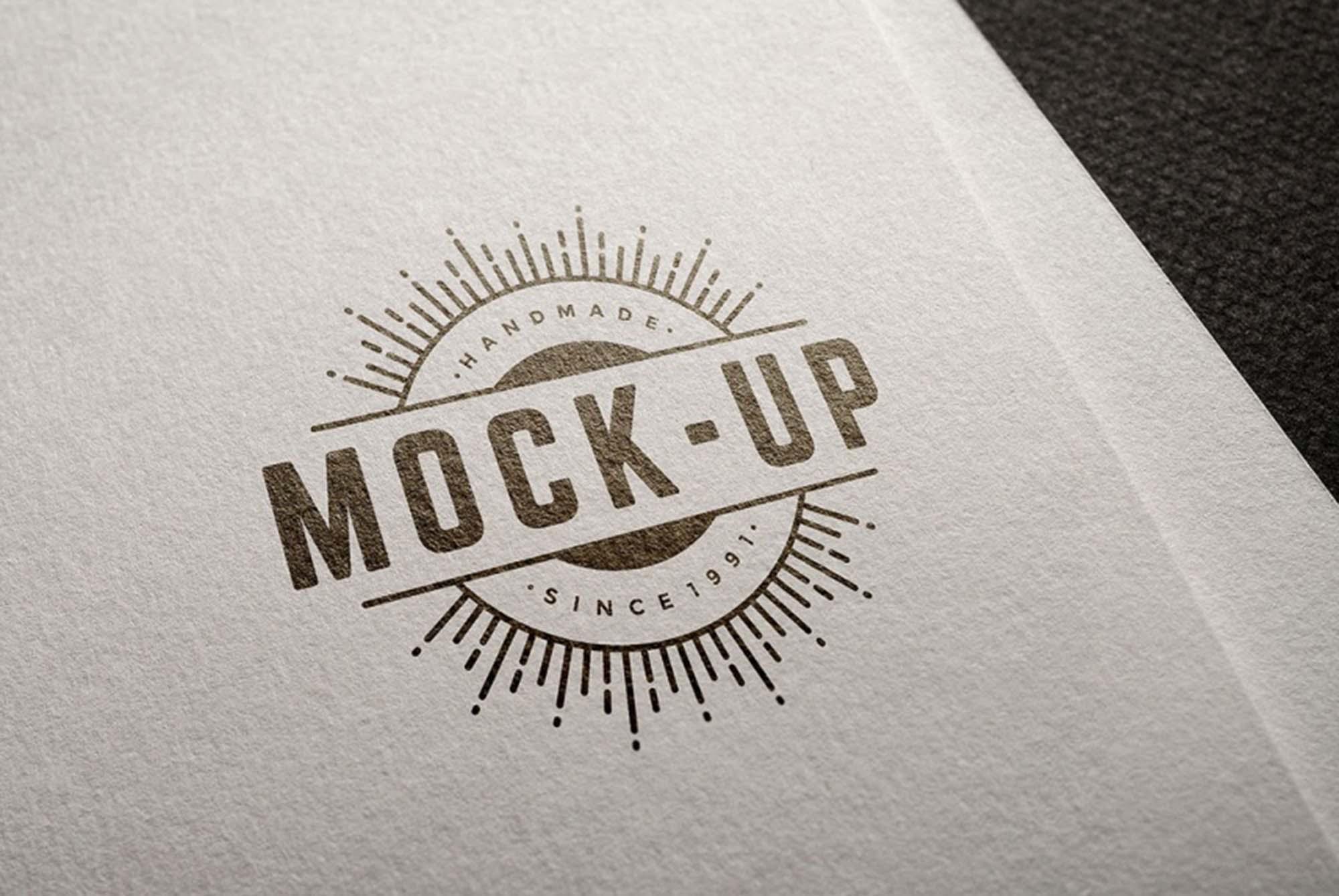 Free Logo Mockup (PSD).