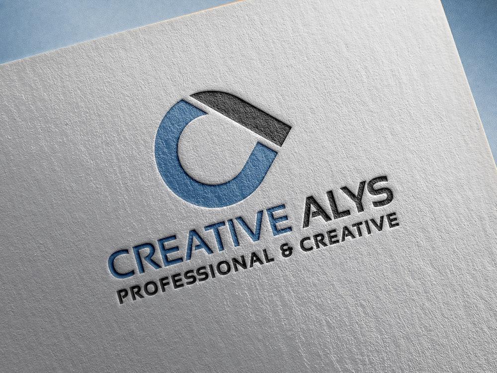 Paper Pressed Logo Mockup PSD.
