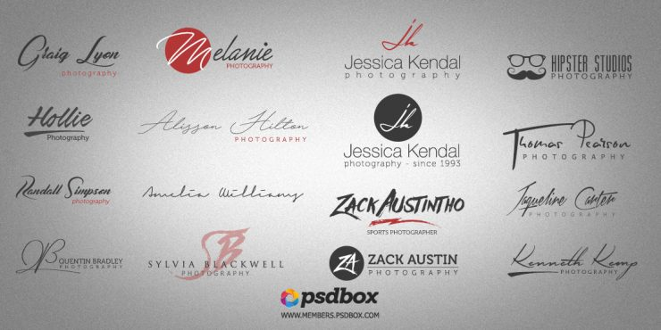 PSD Photography Logos Free pack.
