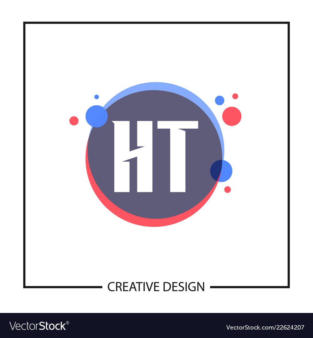 Initial letter ht logo template design.