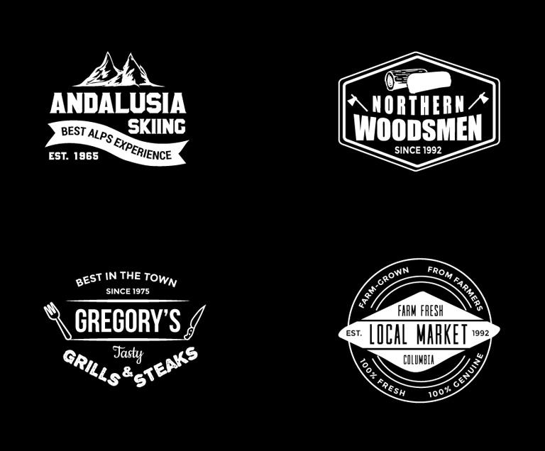 8 Free Vintage Logo Templates.