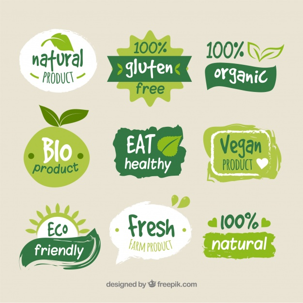 Green Organic Food Logo Template Free Download.