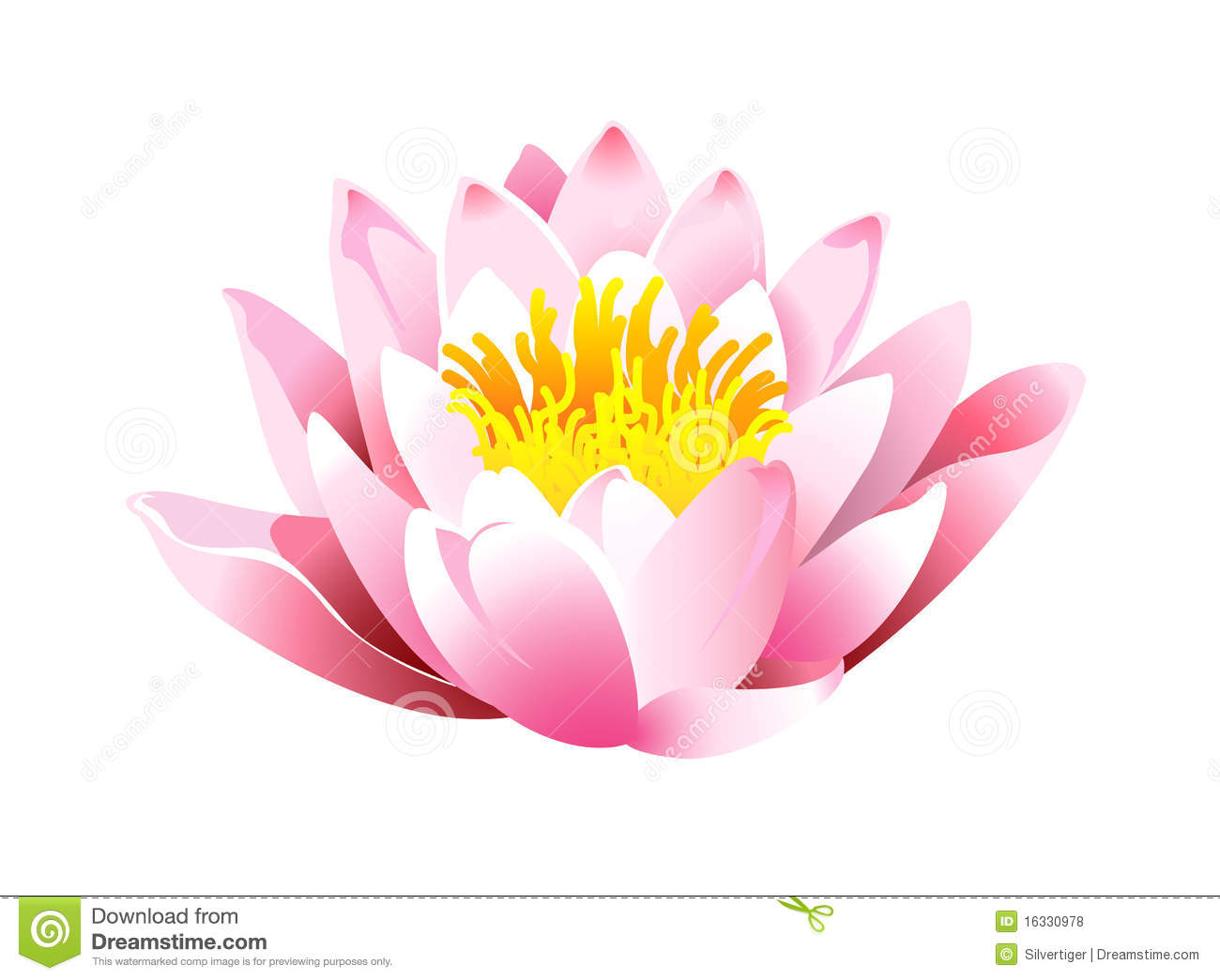 Lotus Icon Royalty Free Stock Photos.
