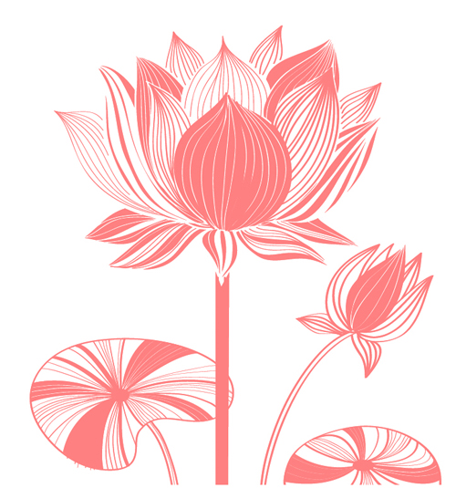 Beautiful lotus photoshop brushes.