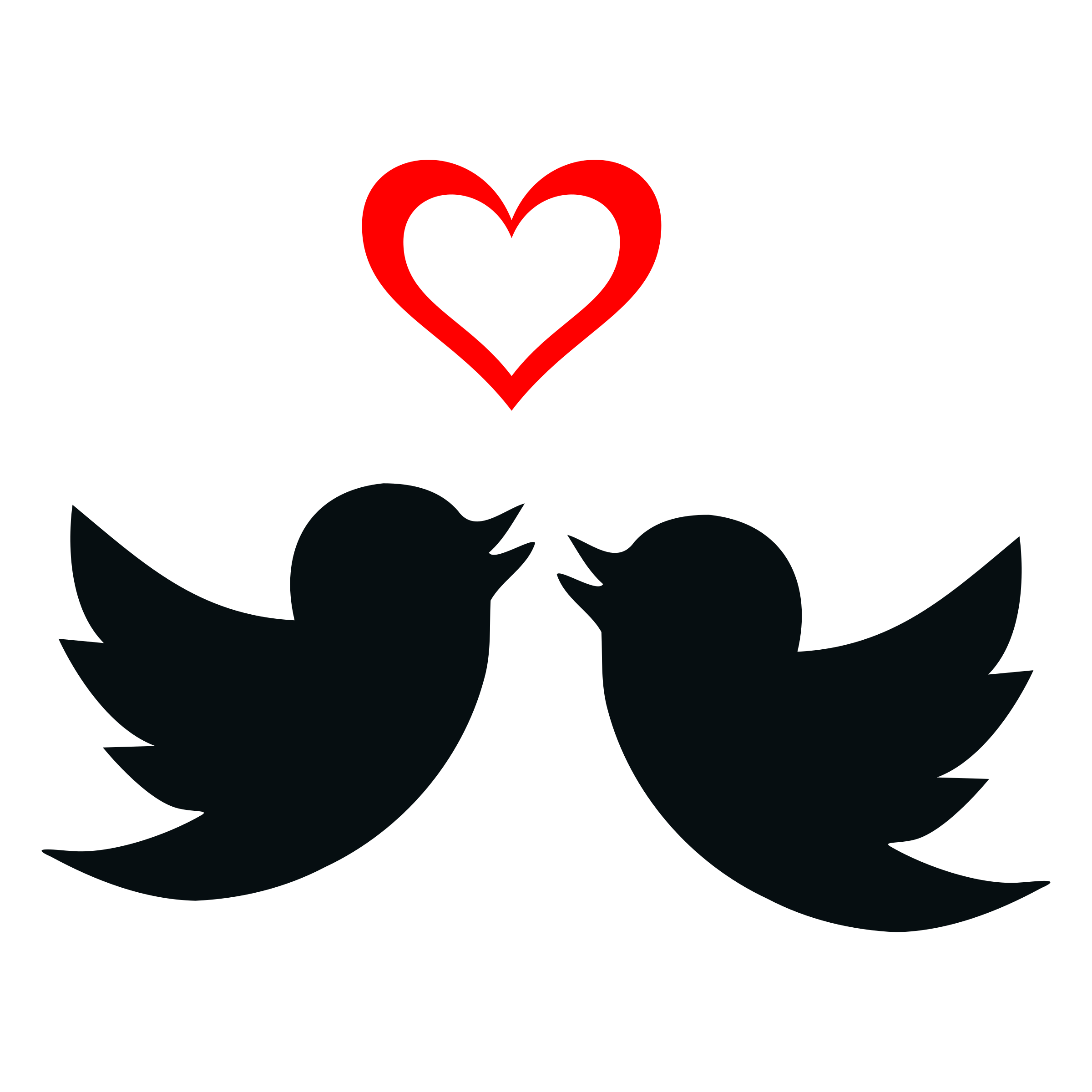 Love Birds Clip Art Silhouette.
